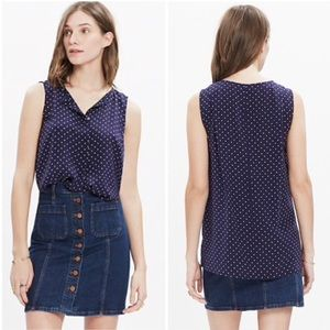 MADEWELL | DOTS AND STARS SILK TOP